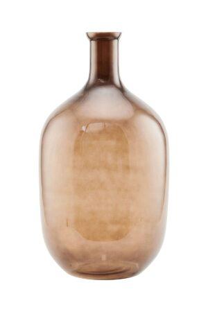 Brązowy wazon z kolorowego szkła House Doctor. Nowoczesny wazon skandynawskiej marki House Doctor.