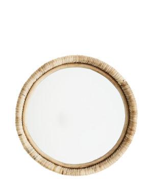 Lustro w bambusowej ramie Madam Stoltz. Lustro w stylu boho