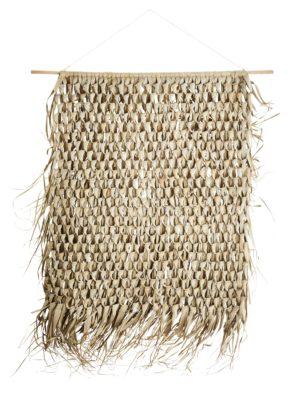 Duża makrama Madam Stoltz z liści palmowych. Dodatek do wnętrz w stylu Boho